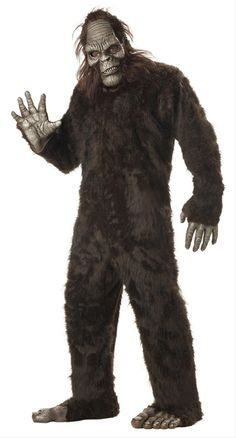 Adult Furry Gorilla Ape Suit Monkey Fancy Dress Costume Mens Animal Jungle Stag