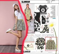 Le margherite protagoniste di stagione anche con ‪#‎raffaellaboutique‬ su Glamour Italia Daisies are protagonists of your Summer with #raffaellaboutique This month on Glamour