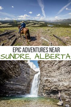 Epic outdoor adventures in and around Sundre, Alberta- including horseback riding, whitewater rafting, hiking, golfing and chasing waterfalls! Best Places To Travel, Places To See, Camping Places, Camping Gear, Alberta Travel, Canada Destinations, Canadian Travel, Whitewater Rafting, Outdoor Adventures