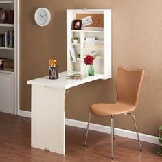 Wall Mount Fold Out Convertible Desk- YES! I want one of these in nearly every room! Brilliant.