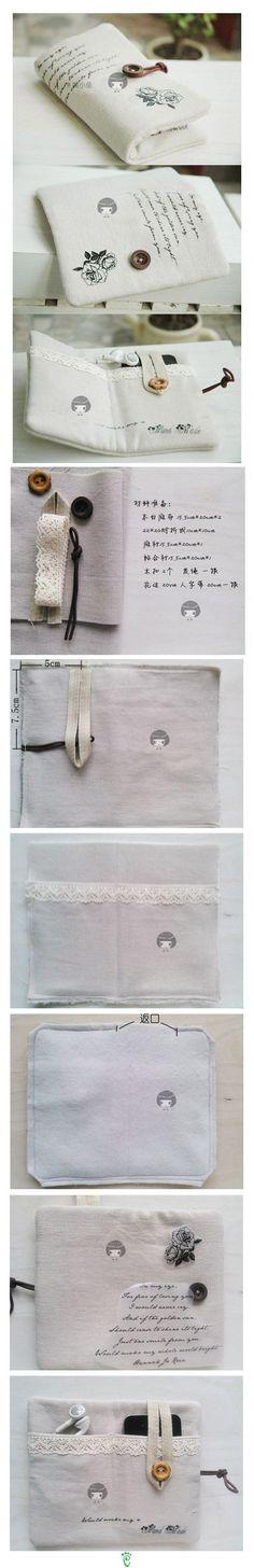 Folding pocket pouch for ipod or iphone and ear buds @Kelly Teske Goldsworthy Teske Goldsworthy Teske Goldsworthy Teske Goldsworthy Jones