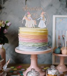 Daughter: The Hymnal Collection — mini style Birthday Party For Teens, Unicorn Birthday Parties, Unicorn Party, Baby Birthday, Birthday Party Themes, Princesse Party, Baseball Theme Birthday, Rainbow Layer Cakes, Princess Birthday