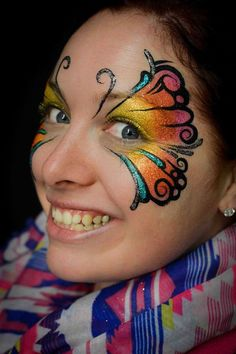 Tatoos, Carnival, Butterfly, Face Paintings, Inspiration, Girls, Artistic Make Up, Artists, Biblical Inspiration