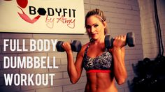This 30 minute workout uses dumbbells to shape and sculpt your full body, while keeping your heart rate up in the process. Options for all fitness levels.