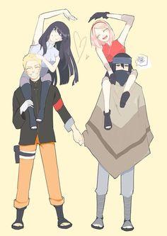 Sasuke, Naruto, Sakura e Hinata                                                                                                                                                                                 Mais