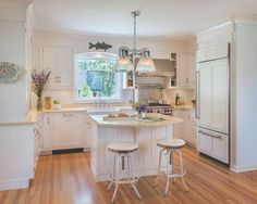 Looking for Cottage Kitchen and Open Plan Kitchen ideas? Browse Cottage Kitchen and Open Plan Kitchen images for decor, layout, furniture, and storage inspiration from HGTV. Grey Kitchen Island, All White Kitchen, Big Kitchen, Open Plan Kitchen, Kitchen Ideas, Pantry Ideas, Kitchen Islands, Kitchen Pantry, Kitchen Inspiration