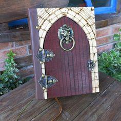 Lion Door (box book) Lion Door Knocker, Door Knockers, Celtic Tree Of Life, Blank Page, Metal Box, Wedding Album, Covered Boxes, Book Of Shadows, Book Making