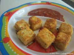 Crispy Tofu Bites - I bake instead of fry.  M loves these - yet, I almost have to bribe her to eat a chicken nugget.
