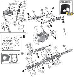 Interactive Diagram - Jeep CJ7 T-176 & T-177 Transmission Parts