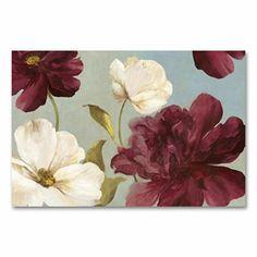 Deep Peonies Floral Wall Art