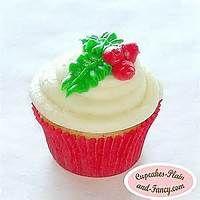 Christmas Holly Cupcakes
