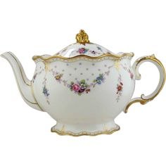 Royal Crown Derby Porcelain Teapot - Royal Antoinette