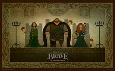 disney pixar brave ♥ family tapestry