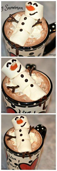 Melting Snowman Hot Chocolate - Hugs and Cookies XOXO