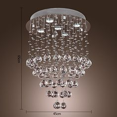 Modern Crystal Chandelier with 5 lights Baroque Design Stainless Steel Lamps for sale online Cheap Chandelier, Crystal Chandelier Lighting, Dining Lighting, Living Room Lighting, Crystal Pendant, Island Lighting, Design Baroque, Buy Crystals, Hanging Lights
