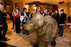 Corporate Holiday Party: A corporate holiday party designed and produced by Sterling Engagements at the Natural History Museum of Los Angeles County earlier this month had a Night at the Museum theme. Traveling dinosaur puppets entertained and interacted with guests.
