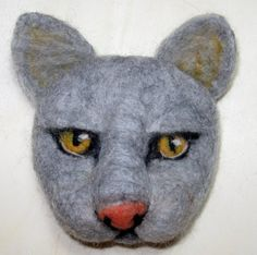 Needle Felt Cat portrait
