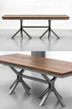 The Grand X Table - beautiful and unique industrial design. The 8 splayed legs crafted with steel offer both stability and a very pleasing aesthetic