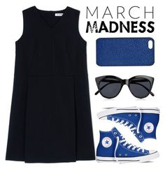 """March Madness!"" by four-hearted ❤ liked on Polyvore featuring Jil Sander, Converse, Le Specs, Maison Takuya and hightops"