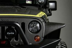 2013 Gloss Black (Yellow El Diablo) K Jeep Wrangler http://www.iseecars.com/used-cars/used-jeep-wrangler-for-sale