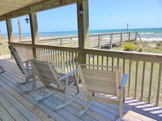 Sassy Seagull West a 3 Bedroom Oceanfront Rental Duplex in Emerald Isle, part of the Crystal Coast of North Carolina. Includes Hi-Speed Internet