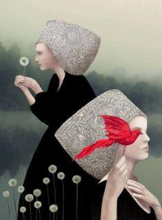 'The Lady of the lake' Art Print by Daria Petrilli Samuel Beckett, Summer Drawings, Graffiti, Art Deco, Lake Art, Digital Museum, Black And White Painting, Italian Artist, Pottery Painting