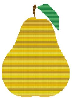 Stripey Pear a Counted Cross Stitch Pattern by WooHooCrossStitch, $9.00