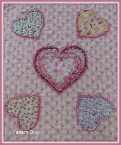 Heart Throb Baby Quilt Pattern, Easy to Make, Pillow Cover Pattern Included Baby Rag Quilts, Children's Quilts, Rag Quilt Patterns, Quilting Ideas, Quilted Pillow Shams, Quilt Pillow, Quilt As You Go, Quilt Sizes, How To Make Pillows