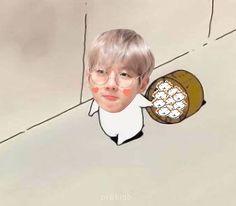 Baekhyun Fanart, Chanyeol, When You Smile, Exo Memes, Kpop, Picts, Meme Faces, Chanbaek, Chibi