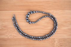 Men's necklace unisex necklace Hematite beaded grey necklace men's jewelry men's modern black bead necklace urban jewelry gift for him