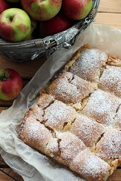 Jabłecznik Cinnamon Apples, Cinnamon Pie, Polish Recipes, Apple Pie, Apple Tarts, Coleslaw, I Foods, Banana Bread, Food And Drink