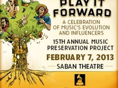 So excited for this event!!  Play it Forward: A Celebration of Music's Evolution and Influencers | Discover Los Angeles
