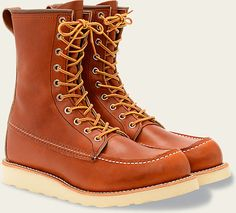 Classic Red Wing Moc toe boot