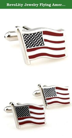 RevoLity Jewelry Flying American National Flag Men's Office Cufflinks Cuff Buttons One Pair Silver Gift. Size: about 19mm*15mm weight:about 20g There are many fashionable and beatiful accesories offered for Man and Women. These unique accessories are made with fashionable style,good quality and shinning unique design,With these accessories,You will be the most attractive person wherever you are. whether you are in a party ,a wedding occasion,a casual dinner date or even a business...