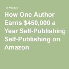 This UK-based author earns a killing through self-publishing. Book Writing Tips, Writing Classes, Writing Art, Amazon Publishing, Self Publishing, Kindle Ebooks, Thing 1, Ebook Cover, Book Journal