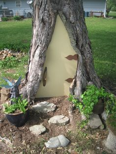Have a Rotted Tree in Your Yard? Build a Fairy Door! | Hometalk