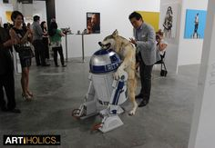 """WOLF GOES TO TOWN ON R2-D2 - Singapore Art Scene Looking Good: Art Stage Closes on """"Record High"""" - Artiholics"""