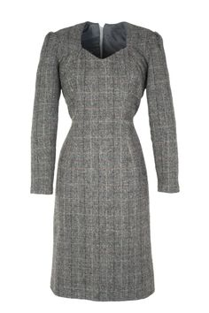 Harris Tweed Dress called 'Business Class' in a summer grey colour