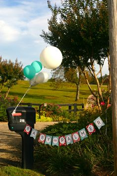 #PersonalizedBanner Coral & Teal monogram baby shower package from @UndercoverHostess. Available for rent/purchase.