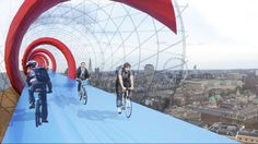 Sky Cycle, Elevated Bike Lane, Bicycle Lane, Exterior Architecture, London Commute, Commuter lanes, London traffic, London bicycle lanes, Elevated travel lanes
