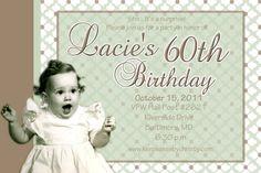 Sample 80th bday invite-cute baby pic