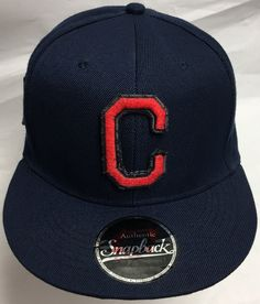 Handmade Cleveland Indians Adjustable Snapback Cap by CoryCranksOutHats on Etsy