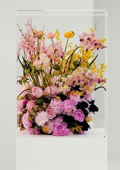 Flowers at the Jil Sander show