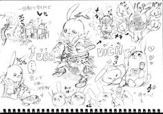 sketches. credit goes to the artist.