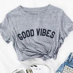 Good Vibes Women's T-Shirt Giving Back to Charity ROX Jewelry Shop Austin Texas