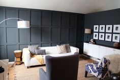 Our Dark DIYed Wainscoting Reveal | Chris Loves Julia