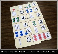 Are you looking for folder activities and games for your classroom? Grab one or more of these math file folder ideas!