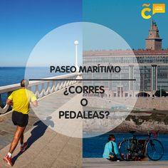 Nos encanta recorrer cada uno de los 13 quilómetros de nuestro #PaseoMarítimo. Y tú, ¿corres o pedaleas? #visitacoruña #lovecoruña