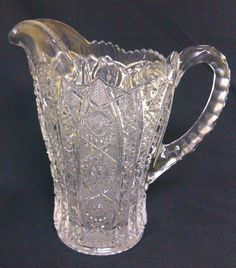 Imperial Daisy and Button 505 / Bellaire Clear Glass Pitcher