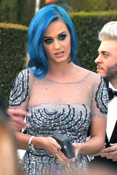 katty perrys in blue hair